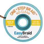 "EasyBraid OS-B-10AS One-Step Desoldering Braid, No Clean .050"" x 10' Anti-Static Bobbin"