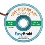 "EasyBraid OS-C-10AS One-Step Desoldering Braid, No Clean .075"" x 10' Anti-Static Bobbin"
