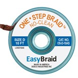 "EasyBraid OS-D-10AS One-Step Desoldering Braid, No Clean .100"" x 10' Anti-Static Bobbin"