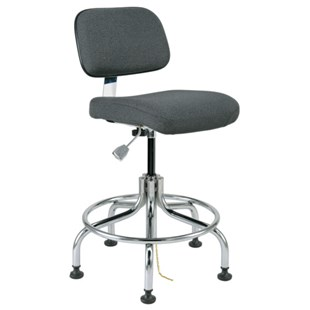 Bevco 8200 Doral Series Ergonomic Static-Safe Industrial Chair, Grey Fabric