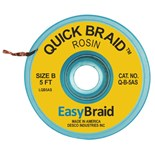 "EasyBraid Q-B-5AS Quick Braid Desoldering Braid, Rosin .050"" x 5' Roll Anti-Static Bobbin"