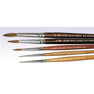 Techni-Pro 0906-06000 Pure Red Sable Round Brushes