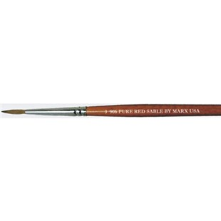 Techni-Pro 0906-03000 Pure Red Sable Round Brushes