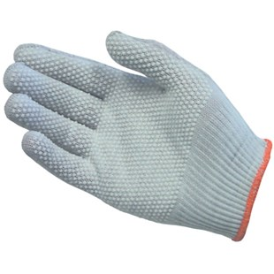 PIP 40-6411 ESD-Safe Assembly Gloves with PVC Dot Grip, Large, 12 Pair/Pkg