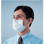 Techni-Tool Face Mask Blue Single Use Surgical Mask with Earloops, Blue, 50/Box