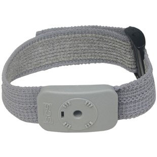 SCS 2368VM Dual Conductor Grey Fabric Wrist Strap Only (without cord)