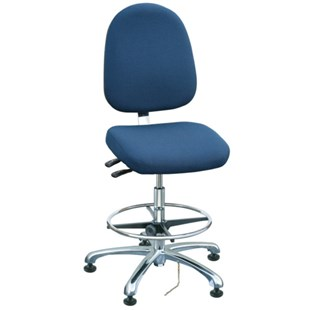 """Bevco 9551L-E Integra Series Ergonomic Static-Safe Chair w/Tilt Seat and Large Back, Navy Blue Fabric, 21-1/2"""" - 31-1/2"""""""