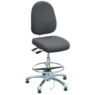 "Bevco 9551L-E Integra Series Ergonomic Static-Safe Chair w/Tilt Seat and Large Back, Grey Fabric, 21-1/2"" - 31-1/2"""