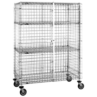 "Metro SEC56DC Mobile Security Cart (65"" L x 27-1/4"" W x 68-1/2"" H)"