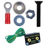 Desco 14246 Flush-to-the-Surface Ground Kit for Static Dissipative Laminate