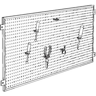 "Production Basics 8724 Peg Board, (72"" wide)"