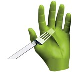 Showa 7705PFT-08 N-DEX® Free Green Nitrile Gloves - Textured Fingertips, Medium, 100/Box