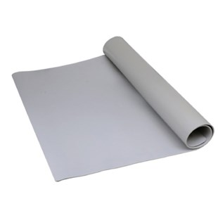 "SCS TM2448L3GR-L Table Mat, Gray, 24"" x 48"" with Ground Cord System"