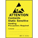 "Botron B6712 1-3/4"" x 2-1/2"" Awareness Labels Write-On (JEDC-14), 500/Roll"
