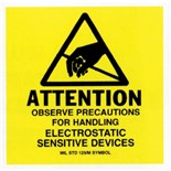 "Botron B6727 2"" x 2"" Awareness Labels (Mil-Std 129), 500/Roll"
