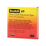 "3M 69-1 MIL-I-19166C Glass Cloth Tape 1"" Wide and 7 Mils Thick"