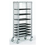 "Nexel TT39C Mobile Side Load Tray Cart with 39 Tray Capacity, 18"" x 30"" x 68"""
