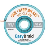 "EasyBraid OS-A-5AS One-Step Desoldering Braid, No Clean .025"" x 5' Anti-Static Bobbin"