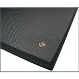 Botron BEM35 Conductive Rubber Floor Mat with Ground Cord and Snap, 3' x 5'