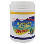 """JNJ Industries SW100IPA 99% Isopropanol Alcohol Wipes, 6""""x 9"""", 100/Canister"""
