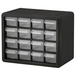 "Akro-Mils 10116 Plastic 16-Drawer Small Parts Cabinet, OD 10-9/16"" x 6-3/8"" x 8-1/2"""