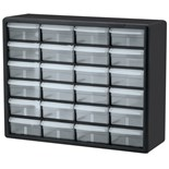 "Akro-Mils 10124 Plastic 24-Drawer Small Parts Cabinet, OD 20"" x 6-3/8"" x 15-13/16"""