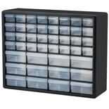 "Akro-Mils 10144 Plastic 44-Drawer Small Parts Cabinet, OD 20"" x 6-3/8"" x 15-13/16"""