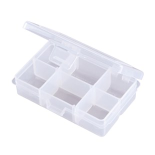 "Flambeau T1002 Compartment Box with 4 Compartments and 2 Removable Dividers, I.D. 4-5/16"" x 2-5/8"" x 1-1/8"""