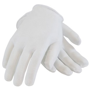Clean ESD Products 42W Cotton Inspection Gloves, Women's, 12/Pkg