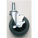 "Metro 5MBESD Conductive ESD-Safe Swivel Caster with Brake, Non-Carbon Loaded, 5"" Dia. x 1-1/4"""