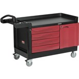 "Rubbermaid 4548 TradeMaster™ Cart with 4-Drawers and 1-Cabinet, 59"" L x 26"" W x 38"" H, 750 lbs. Capacity"