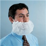 APP0370-500 Disposable Beard Covers, White, 500/Case