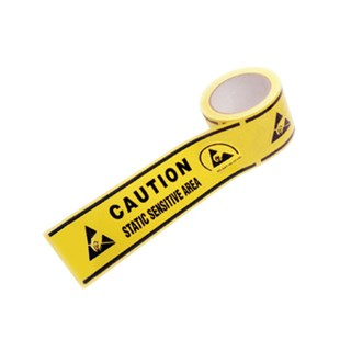 "Techni-Stat 758ST0161 Aisle Warning Tape with Symbols for Static Sensitive Areas, 3"" x 54' roll"