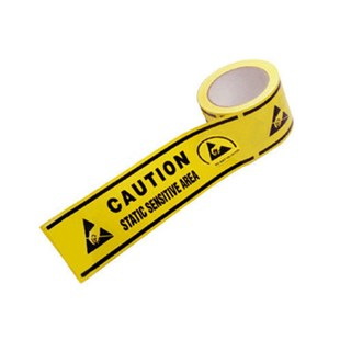 """Techni-Stat 758ST163 Aisle Warning Tape with Symbols for Static Sensitive Areas, 3"""" x 108' roll"""