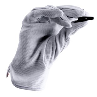 Techni-Stat 758ST821 Dissipative Gloves with PVC Dotted Palm, Small, 10 Pairs/Pkg