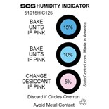"""SCS 51015HIC125 5, 10, 15% Humidity Indicator Cards, 2"""" x 3"""", 125/Can"""