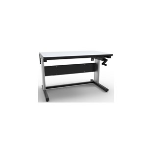 """Production Basics 2000 30"""" x 48"""" Hand Crank Adjustable Height Workstations with Standard Top"""
