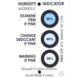3HIC125 Techni-Stat 3 Spot Humidity Indicator Card, 2 x 3 in., 125/Can
