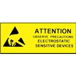 "Botron B6747 Awareness Work Area Sign, 4"" x 10"", 10/Pkg."