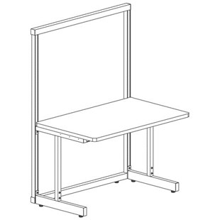 "Production Basics 1003 Production Basics Workstation Stand Alone 30"" X 36"""
