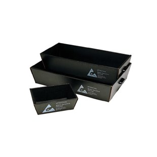 """Conductive Containers Inc. 7000 Corstat Nesting Tote, 12"""" x 9"""" x 4"""""""