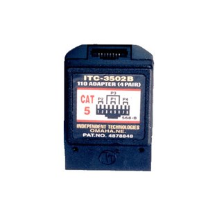 Independent Technology ITC-3502B 110 Block to RJ-45, CAT5 568B, 8-Wire