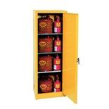 "Eagle 1923 Flammable Liquid Safety Storage Cabinet, 24 Gal. Capacity, 23"" W x 18"" D x 65"" H"