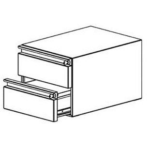 """Production Basics 8614 Double 6"""" Drawers for RTW Series, 18"""" x 14"""""""