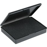 "Protektive Pak 57004 Conductive Hinged Boxes with Foam and Molded ESD Symbol on Cover, (3.54"" x 2.52"" x .63"")"