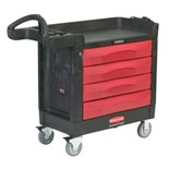"Rubbermaid 4513-88 TradeMaster™ 4-Drawer Cart, (40"" x 18"" x 38"") 500 lbs. Capacity"