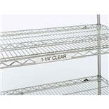 "Metro 9990CL1 Clear Label Holder, 13"" x 1-1/4"""