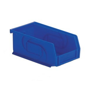 "Lewis Bins PB74-3 Hanging and Stacking Part Bin, Blue, 7.375"" x 4.125"" x 3"""