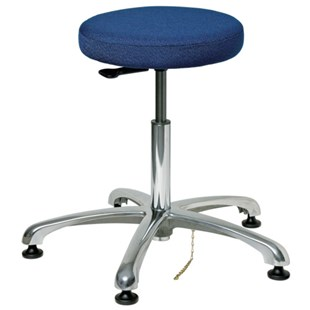 "Bevco 3350E-F ESD-Safe Stool, Navy Blue, Height Adjustable 18-1/2"" - 26"""