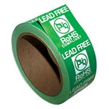 "SCS ROHSLABEL Lead-Free RoHS Compliant Warning Labels, 1-3/4"" x 1-3/4"", 500/Roll"